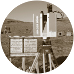 An icon for the laser scanning game, showing the 3D laser scanner used to record Fort Conger in 2010