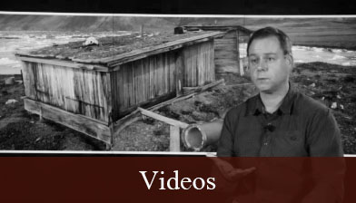A glimpse into one of the videos contained on the Videos page with Dr. Peter Dawson speaking of the expiditions of Fort Conger.