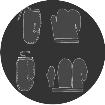 Image Shows a pattern for traditional inuit mittens