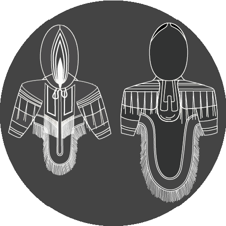 image shows a pattern for a traditional inuit Parka