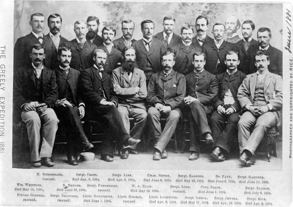 A Historic photo showing all the members of the Lady Franklin Bay Expedition