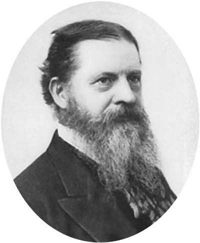 A historic portrait of George Sanders Peirce
