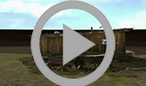 An animation that rotates 360 degrees showing one of the three Peary huts